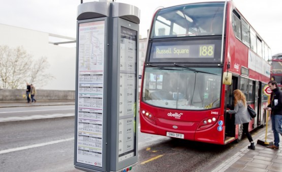 First Innovative E-paper London Bus Stop Deployed